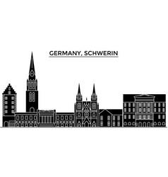 germany schwerin architecture city skyline vector image