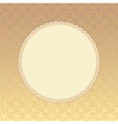 Golden background with beige round label Eps 8 vector image