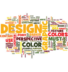 Graphic designs standards text background word vector