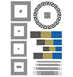greek key pattern vector image vector image