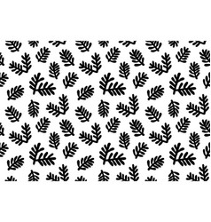 green fir branches isolated on white background vector image
