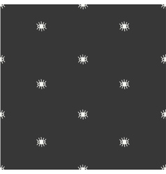 Hand drawn seamless pattern with open and close vector image