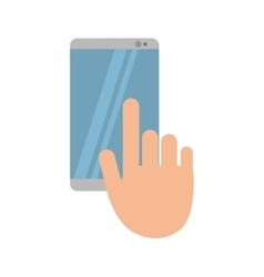 Hand touch mobile phone chat talk vector