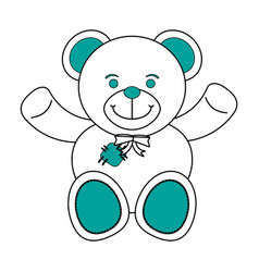 isolated teddy bear design vector image