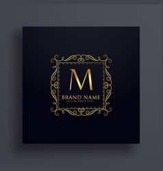 letter m premium logo design concept for your vector image vector image