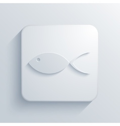 modern fish light icon vector image vector image