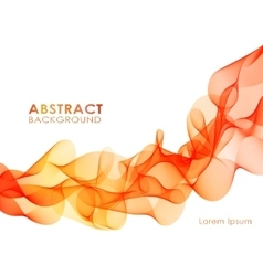 Orange wavy abstract background vector image