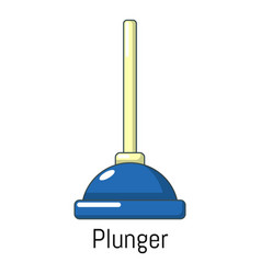 plunger icon cartoon style vector image