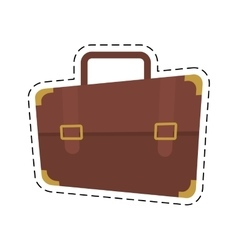 Portfolio suitcase travel business cut line vector