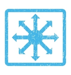 Radial arrows icon rubber stamp vector
