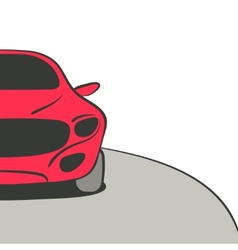 red car background vector image