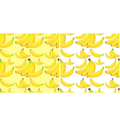 Seamless background with yellow bananas vector