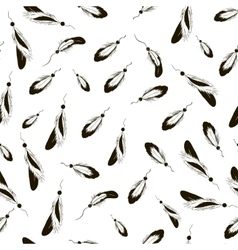 Sketch feather pattern vector