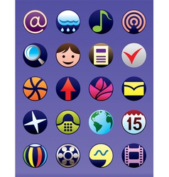 Smartphone and GSM menu icons set vector image vector image