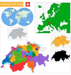Switzerland map vector