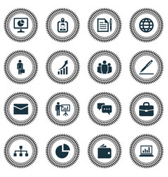 Trade icons set collection of hierarchy vector