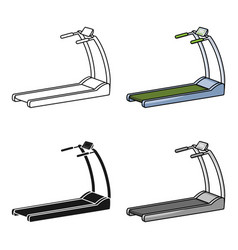 Treadmill icon in cartoon style isolated on white vector