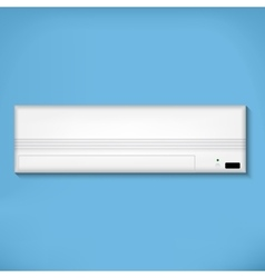 White air conditioner vector image vector image