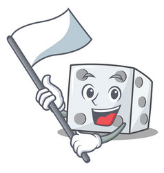 With flag dice character cartoon style vector
