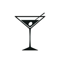 Martini Icon Isolated on White Background vector image