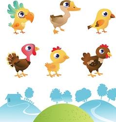 Set of different birds vector image