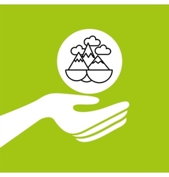 Hands together environment concept vector