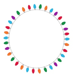 Circle of christmas and new year light on white vector