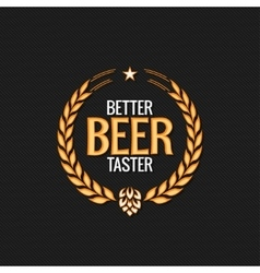 Beer label reward logo design background vector