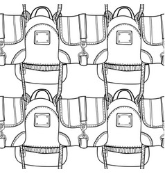 black and white seamless pattern with fashion bags vector image