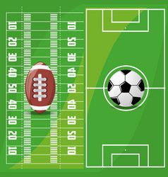 American football sport game to competition vector