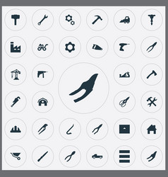 Set of simple work icons vector