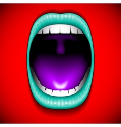 Mouth color open vector