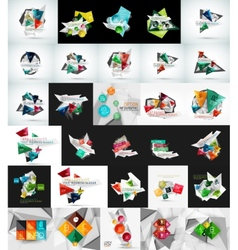 Mega set of abstract geometric web banner vector