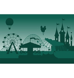 Amusement park background vector image