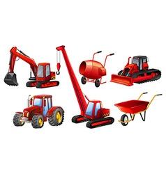 Tractors vector image