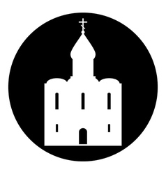 Orthodox church button vector