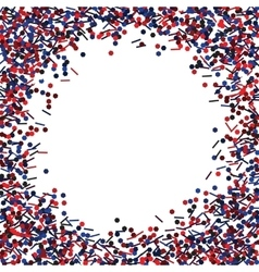 Round frame with red and blue glitters vector image