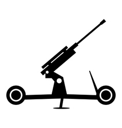 Howitzer artillery simple icon vector