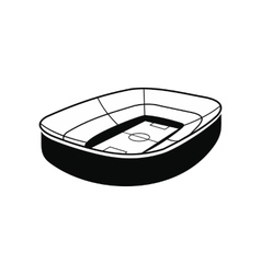 Oval footbal stadium black icon vector