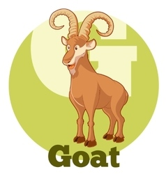 ABC Cartoon Goat vector image