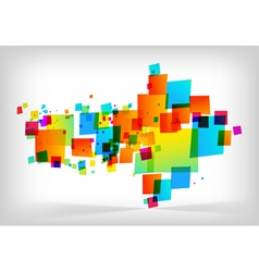 abstract colorful arrow background vector image vector image