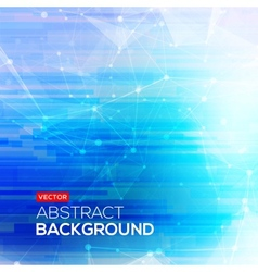 Abstract polygonal blue low poly bright background vector image vector image