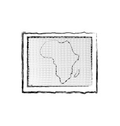 Africa map icon vector