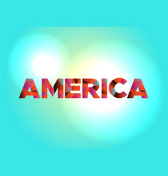 America concept colorful word art vector