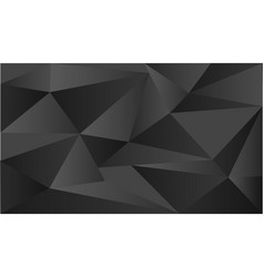 Background template with triangle shapes on black vector