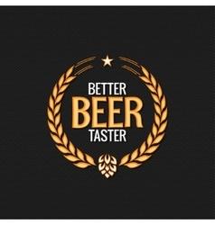 Beer label reward logo design background vector