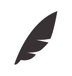 Black feather to symbol of writing icon vector