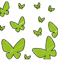 Butterflies pattern isolated icon vector