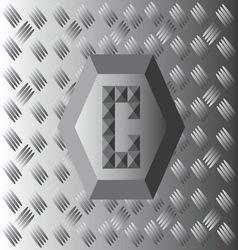 C text aluminium wallpaper vector