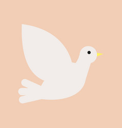 Christian white dove symbol of holy spirit and vector